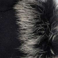 Ladies Black Warming Fingerless Winter Gloves Faux Rabbit Fur Adjustable