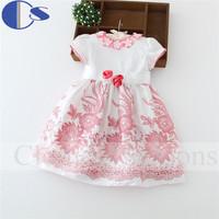 2015 Roupa Meninas Vestir Girl Clothing Baby Girl High Quality Summer Girl Dress Cute Flower Print  Princess Children Clothing