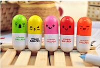 Hot! Stationery Cartoon Pills Retractable Novelty Multicolor Ballpoint Pen Cute Ball Point Pens 2000pcs/LOT