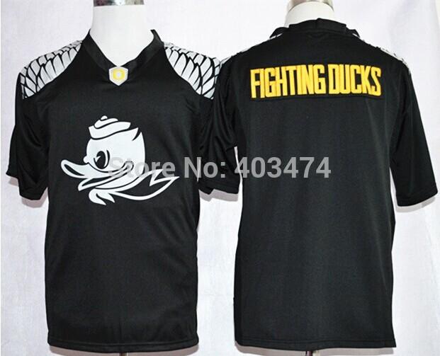 Fighting Ducks BLack Jersey,Fashion Oregon Duck NCAA College Football Jerseys,2015 New Premier Fashion,Printed Embroidery logos(China (Mainland))