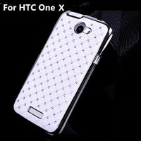 Luxury Bling Diamond Star Design Hard Plastic PC Case Cover For HTC One X Free Shipping S30