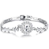 Classic Platinum plating AAA zircon wedding bracelets for women