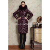 woman's coat Down jacket Fox collars Down jacket fashion Super long 2014 New free shiping
