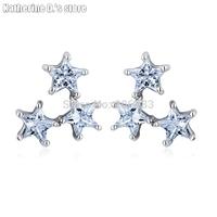 Top quality fashion crystal stud earring zircon stud earring star earrings CEC_00092