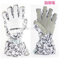 2014 Fashion Design  Women Ski Gloves Fleece Liner Windproof Waterproof Thermal Cotton Warm Gloves