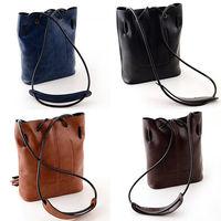 Classic Women Faux Leather Tassel Shoulder Bag Drawstring Hobo Cross Body Solid