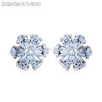 Top quality fashion crystal stud earring zircon stud earring flower earrings CEC_00096