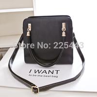 new designed women handbag candy color shoulder bag vintage pu leather messenger bag free shipping