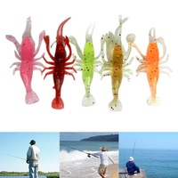 Original Lot 5pcs Soft Shrimp Baits Fishing Lures Floating No Rattles 8cm 3.15\\\'\\\' 3g for CE certification