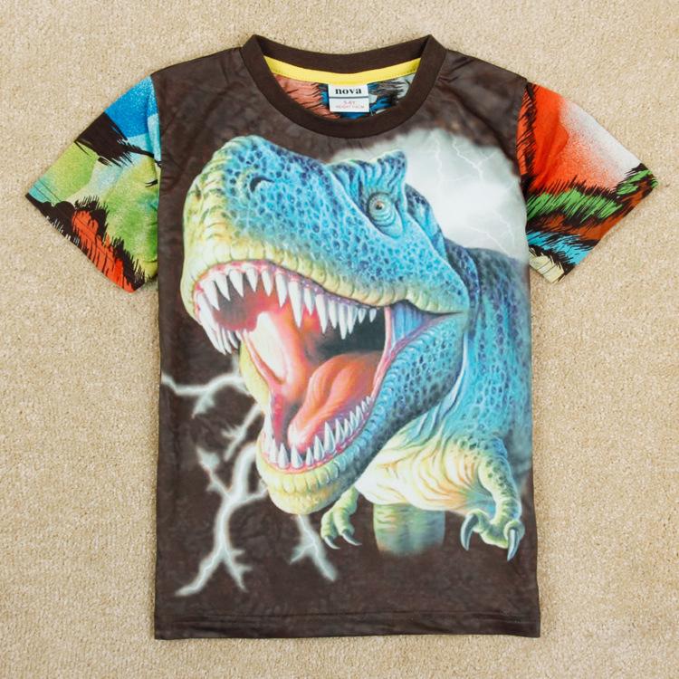 AliExpress.com Product - 2015 New summer boys kids clothes / roupas meninos 3D Dinosaur t-shirt clothing boy's t shirt nova peppa pig tops child cheap