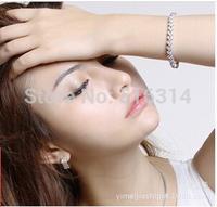Fashion Hot Pulseiras Femininas Rome Bracelet AAA+ Cz Crystal Women Gold Bracelet Infinity Love Fashion Jewelry Accessories