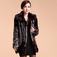 Free shipping long mink coat of cultivate one's morality in the new counters authentic fox collars haining fur coat