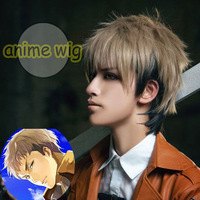 Free Shipping 30cm Short Attack on Titan-Jean Kirstein Multi Color Man Synthetic Wig