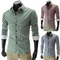 New Stylish Striped Shirts Long Sleeve Buttons Mens Shirts Casual Shirts 5037