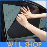 Car sunshade stickers 42 x 38cm car automatically retractable curtains sunscreen sun block automatic blinds