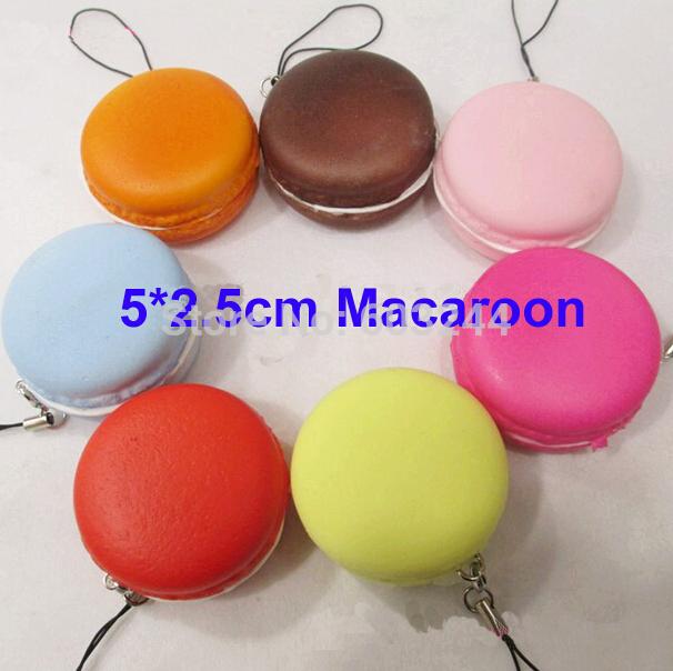 Free Ship 50pcs Latest 5*2.5CM 3D Cartoon Macaroon Cake Food Charm Cell Phone Strap Phone Bag Key Pendant Chirstmas Gift(China (Mainland))