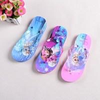 Frozen Flip Flops Elsa Anna Princess Gir's Slippers Sandals Kids Summer Beach Shoes 30pairs/lot