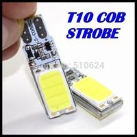 10pcs T10 COB t10 car led Strobe flash flashing Led car light source stop turn signal brake Parking Reverse Bulb Lamp