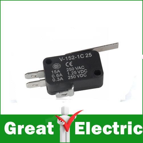 5PC/LOT V-152-1C25 Straight Hinge Lever AC DC Micro Switch Limit Switch #YXSMDZ434(China (Mainland))