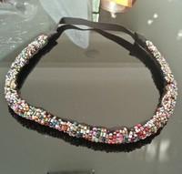 2015 New Arrival freeshipping wholesale fashion vintage bohemian colorful beaded headband popular fashion hair accessories