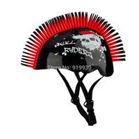 Childrens Kid Punk Mohawk Helmet Cycling Roller Skating Skiing Bike Sports Protective Gear