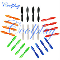 Free Shipping 6sets/Lot=24pcs Hubsan X4 H107 Quadcopter Blades Propeller for H107 H107L  H107C 6 colors
