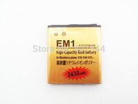 DHL  shipping 100pcs/Iot  Gold 2430mAh Battery For  Blackberry EM1 E-M1 Curve 9350 9360 9370 BAT-34413-003