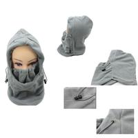 2014 HOTSALE gray Solid Color Winter Masks Ski Mask Winter Outdoor Warm Hat Windproof Cycling Fleece Hat Windproof warm cap