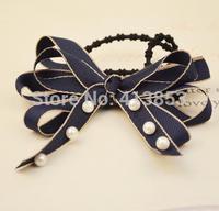 Fashion Bowknot Elastic Hair Band Tie Seamless Hair Circle New Han Edition Hair Accessories A153