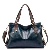 Fashion lady bags to shoulder his handheld portable cowhide leather shoulder women messenger bag big leather bag