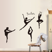 Fashion creativity decorative wall stickers bedroom romantic dance studio sofa backdrop stickers