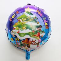50pcs/lot 18inch round merry Christmas balloons Christmas party supplies ballon Feliz Navidad Christmas treemylar helium ballons