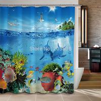 Blue Sea World  bathroom curtain shower curtain terylene bath curtain 180x180cm ,screen shower,curtain bath