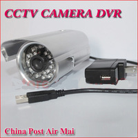 Free Shipping !No need Cable Motion Detection Home Security DVR outdoor bullet Camera with TF Card Slot Support Loop Recording