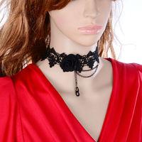 DL3337 Wholesale 12pcs/lot Gothic necklace false collar handmade lace necklaces & pendants short  Wedding necklace