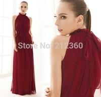 Fashion women's bohemia full dress Ruffled collar chiffon one-piece dress loose expansion bottom ultra long dress