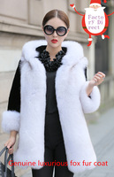2014 full leather luxurious fox fur coat ladies' coat fashion fur coat and long sections Rex fashion must warm holiday party