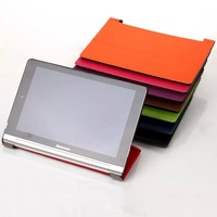 High Quality Custer Grain Smart Case Flip Leather Hard Back Cover Stand for Lenovo Yoga Tablet 10 B8000 HD+ B8080