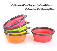 Free Shipping 10pcs/lot Food Grade Silicone Multi-Colors Collapsible Dog Feeding Bowl, Environmental Portable Pet Bowl.