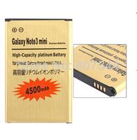 DHL  shipping 100pcs/Iot  Gold 4500mAh Battery For   Samsung N7506V Note3 mini n7508V N7505 EB-BN75BBC