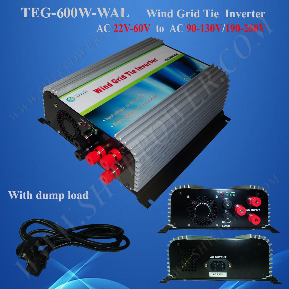 Inverter grid tie wind turbine 600W, ac output wind generator 48V, 48V inverted 220V grid tie(China (Mainland))