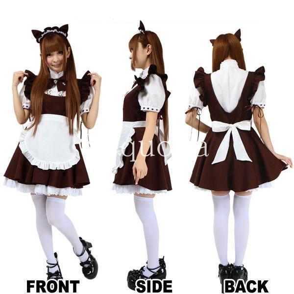 Neko Maid Dress up Outfit Maid Dress For Neko
