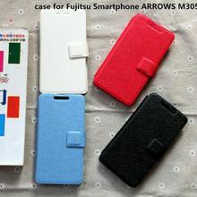 Pu leather case for Fujitsu Smartphone ARROWS M305 KA4 case cover