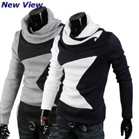 New Brand Sweaters and Pullovers Men Winter Fashion 2015 Casual Cotton knitwear Turtleneck Autumn men's tracksuit Drop shipping