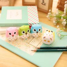 Kawaii Owl Pencil Sharpener Cutter Knife Promotional Gift Stationery(China (Mainland))