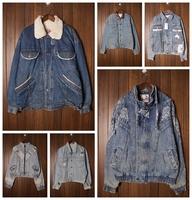 Vintage vintage fashion vintage denim outerwear thick jacket thickening cotton-padded