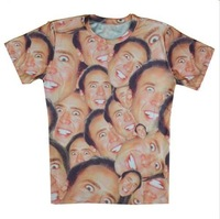2015 new men/women 3D T-shirts print Nicolas 3D Novel Digital Tops T-shirt S M L XL XXL