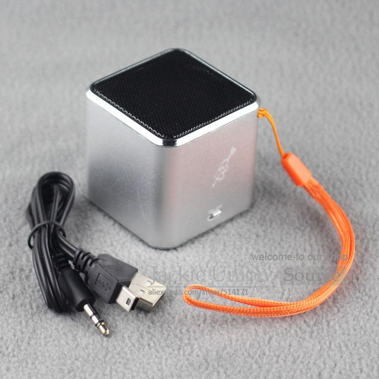 100% Asli Silver Warna MD07 USB Musik Angel Speaker Heart Kotak Suara Kartu TF + MD07 Upgrade Speaker Mini(China (Mainland))