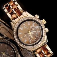 Brand New Quartz Watch Japanese movement Women Dress watches Men Tortoise Acetate Watch wristwatch Stainless Steel digital Watch