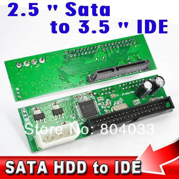 """T 22Pin Sata 2.5"""" 3.5"""" to IDE 3.5"""" 44pin HDD Hard Disk Driver Adapter Converter Adaptor ATA 100 133 HDD DVD CD 4P Molex Power(China (Mainland))"""